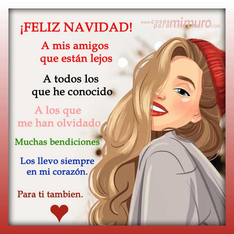 Para mis amigos, para ti, feliz Navidad