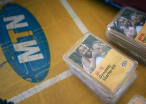 FILE PHOTO- An MTN starter kit pack on display at a retail stand in Abuja, Nigeria November 17, 2015. REUTERS-Afolabi Sotunde-File Photo