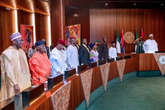 President Buhari presides over National Council of State Meeting in State House on 22nd Jan 2019-4