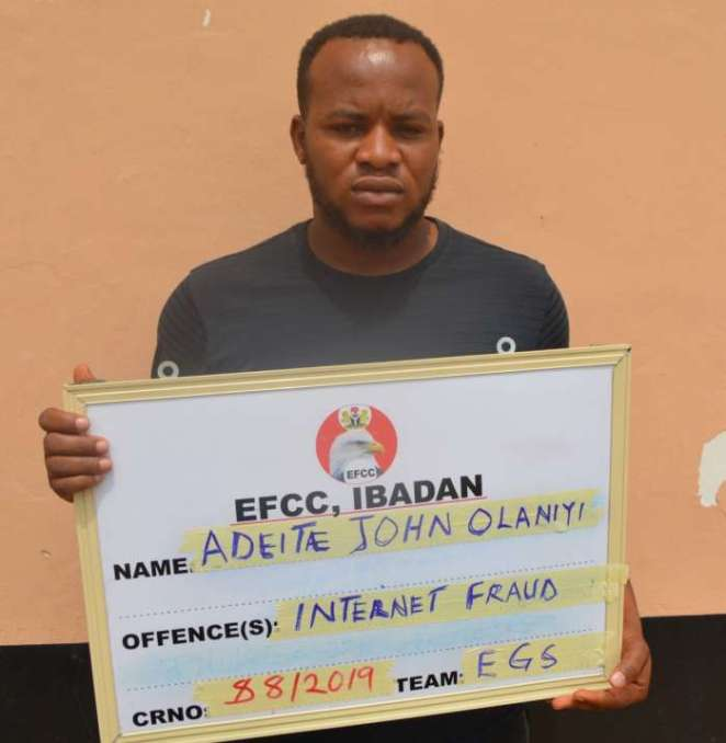 A Federal High Court sitting in Abeokuta, Ogun State on Friday, June 14, 2019 convicted two internet fraudsters and sent them to jail. The convicts are Dauda Abdulsemiu Opeyemi and Adeite John Olaniyi.