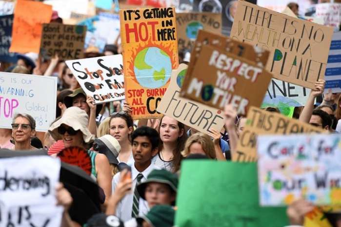 Huge Numbers Of Young People Join Unprecedented Day Of Climate Action