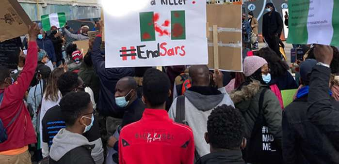 3. Hundreds of Nigerians in Berlin, Germany, and London, the United Kingdom protested against police brutality, extrajudicial killing, and bad governance in their home country.