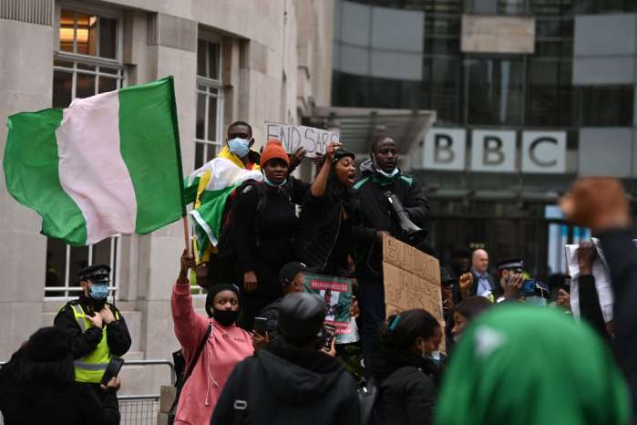 5. Hundreds of Nigerians in Berlin, Germany, and London, the United Kingdom protested against police brutality, extrajudicial killing, and bad governance in their home country.