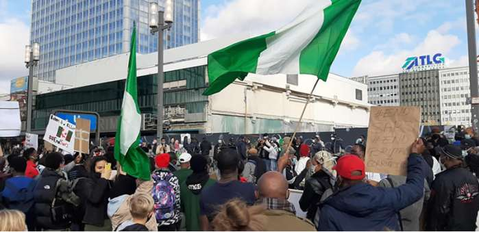 9. Hundreds of Nigerians in Berlin, Germany, and London, the United Kingdom protested against police brutality, extrajudicial killing, and bad governance in their home country.