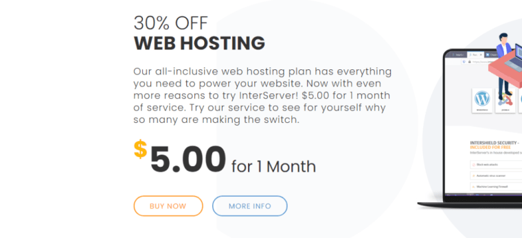 Interserver | 30% OFF STANDARD WEB HOSTING