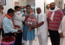 BJP district president Gopal Sharma, All India Human Welfare Trust officials welcomed for the third time
