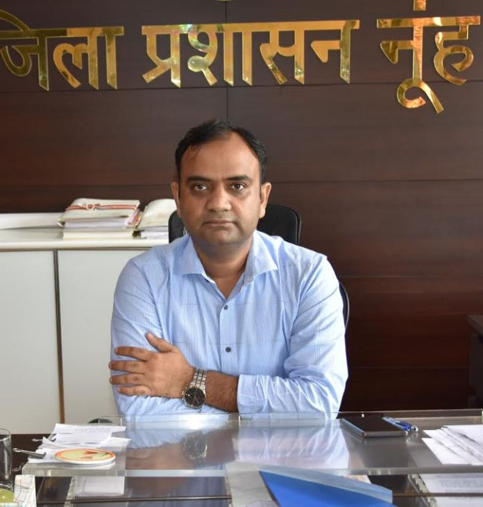 Nuh- Mewat Deputy Commissioner and District Election Officer Dhirendra Kharagta