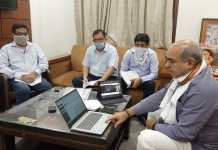 Transport Minister Moolchand Sharma launches online transfer policy of driver and operator in Transport Department