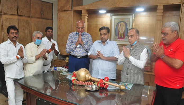 Arms worship done for Love Kush Ramlila stage