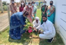 Plantation done by teachers on teachers day - Poonam Cincinnavar