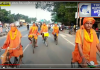 Devotees set out on a cycle tour with the resolve of Corona Free India