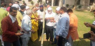 Ravan, Kumbhakaran, Meghnath's effigies duly worshiped and inaugurated by cutting bamboo