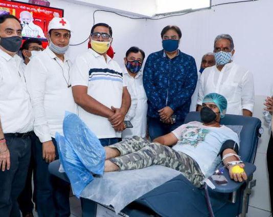 Union Minister of State Krishnapal inaugurates second plasma bank in Faridabad