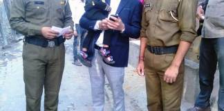 Faridabad Police once again returned the happiness of a family, the faces of family members blossomed.