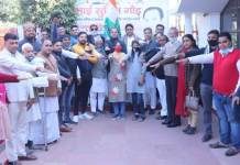 Congressmen celebrated Congress party's foundation day sumit gaur