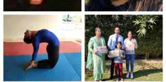 Faridabad won silver and bronze medal in the 36th Haryana State Yogasan Sports Championship