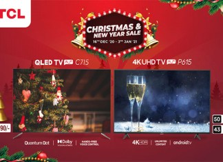 TCL has brought Christmas and New Year offers on 4K QLED C715 and 4K UHD P615