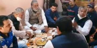 Union Minister Krishnapal Gurjar and Transport Minister Moolchand Sharma arrived to mourn the death of journalist Sanjay Kapoor's father.