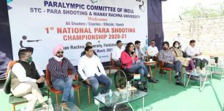 First National Para Shooting Competition 2020-21 organized in Manav Rachna
