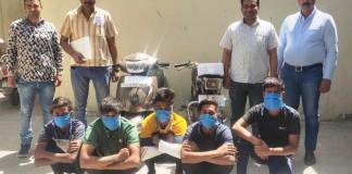 Five accused of extortion by robbing shopkeeper and asking for extortion were arrested by the team of Crime Branch DLF