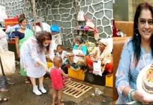 Ekta Jain fed food to the needy people on her birthday