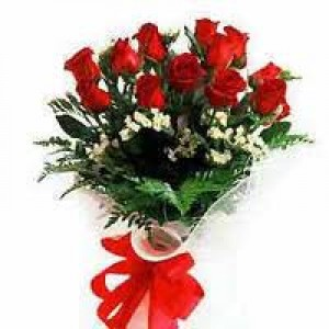 12 Fresh Red Rose Bunch 499 1