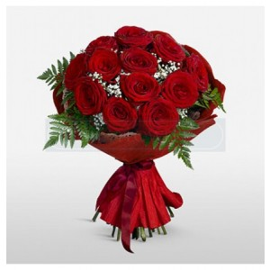 12 Red Roses With Special Packing