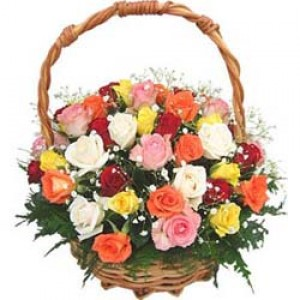 Basket Of 40 Mix Rose