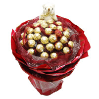 24 Pcs Ferrero Rocher 6 Inch Teddy Bouquet