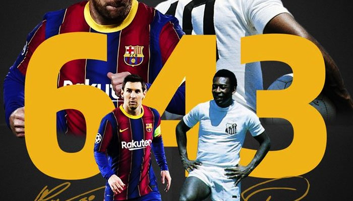 Messi equaled Pele's record of 643 goals | Today Headings