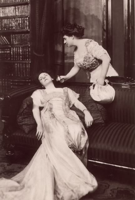 Image result for vintage woman fainting
