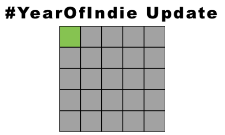 Year of Indie update (1 read, 24 to go)