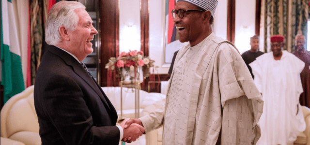 US Sec of State, Rex Tillerson dissapoints cynics, meets with Buhari in Aso Rock(Photos)