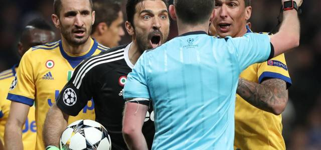 UEFA, referee chief condemn Buffon over Michael Oliver comments