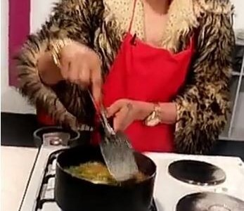 Self acclaimed Snapchat queen, Bobrisky features in Ghanaian cooking show