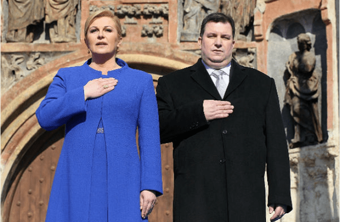 Husband of beautiful Croatian president unveiled