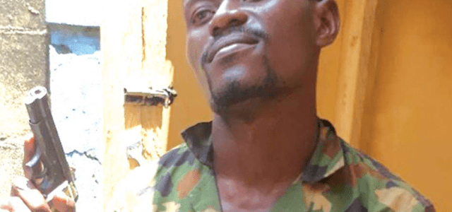 Soldier arrested for armed robbery, confesses to being a cultist