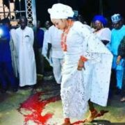Ooni's palace react, says Olori stepped on Camwood not blood