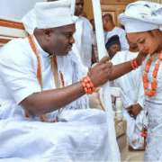 Ooni of Ife's new wife enters the palace(photos)