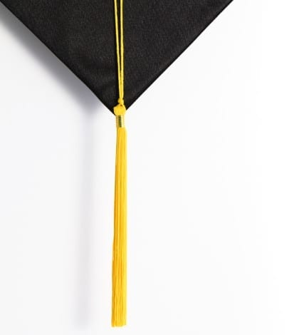 Black and gold colors for graduation
