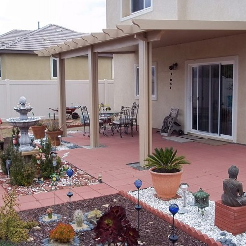 a patio cover that offers insulation in