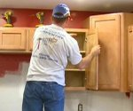 installing a kitchen cabinets