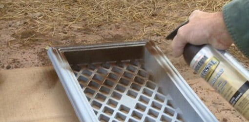 How To Paint Cast Iron Foundation Vent Grates Todays