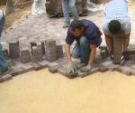 Laying pavers on sand