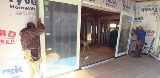 Installing Sliding Glass Door Unit On Kuppersmith Project