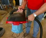 Shop vac with base removed