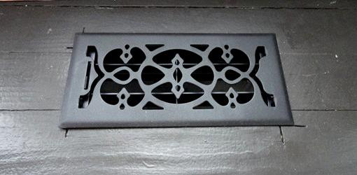 Vent cover on HVAC duct