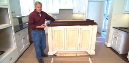 Tip For Finishing An Island Cabinet In Your Kitchen