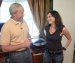 Danny Lipford with homeowner Laura Saltman.