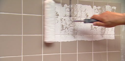how to paint over ceramic tile in a bathroom | today's homeowner